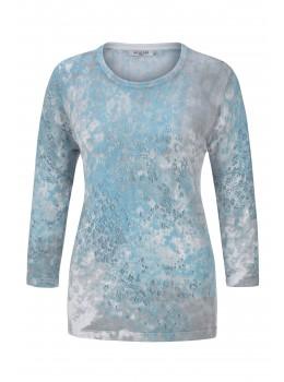 3/4-Arm-Pullover mit Rollkante
