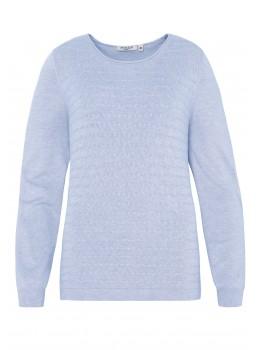 Klassischer Pullover mit Zopfstruktur