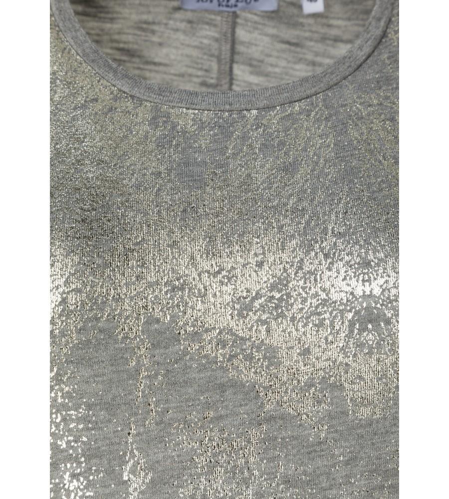 Feminines Shirt mit Folienprint 18193-104 detail1