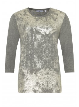 Feminines Shirt mit Folienprint