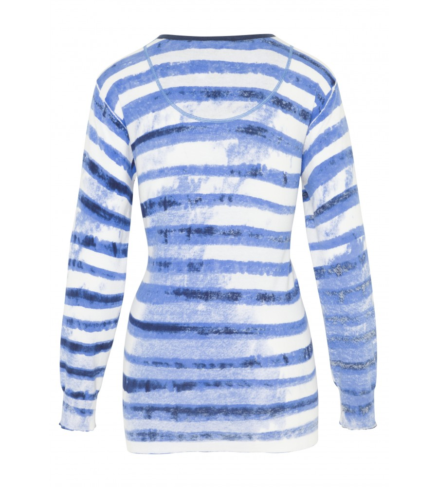 Modischer Pullover in Sprayer-Optik 18316-699 back
