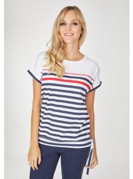 Shirt Blousonform mit Schleife