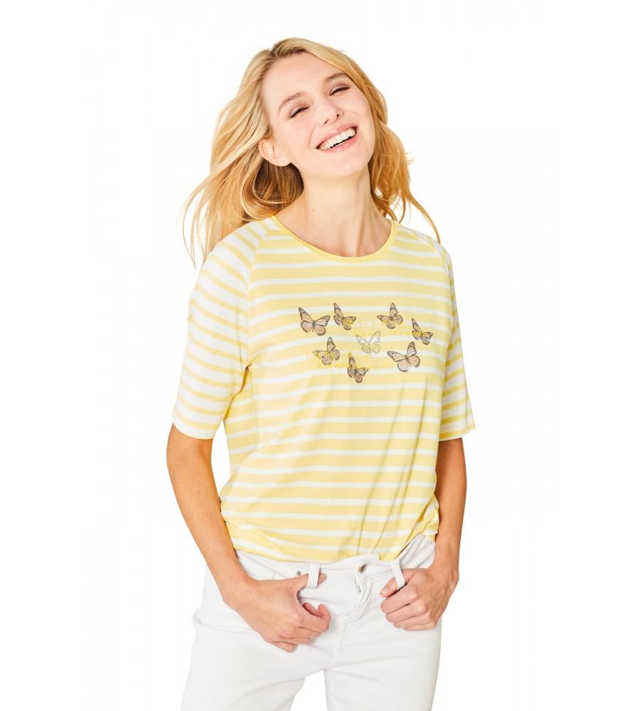 Hochwertiges Shirt Rundhals Halbarm 18862-407 front
