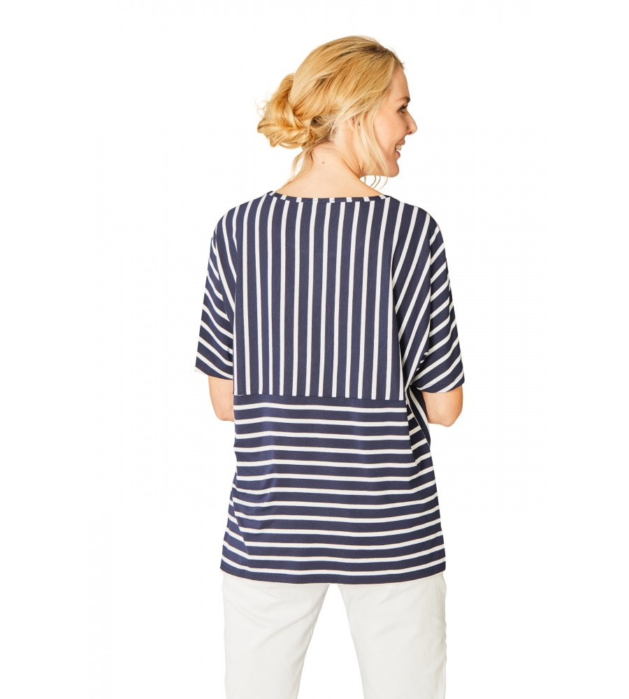 Feminines Shirt Rundhals Halbarm 18871-609 back