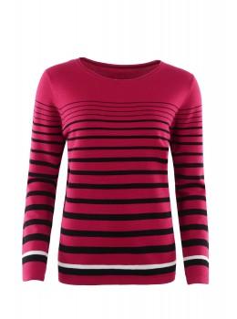 Pullover mit sportivem Streifendesign