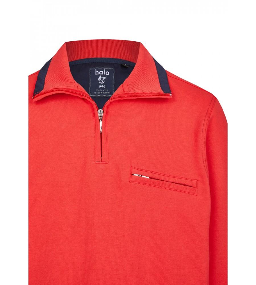 Sweatshirt mit Troyerkragen in großen Größen 20023-6X-373 detail1