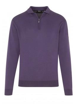 Polo-Pullover mit Baumwoll-Innenseite