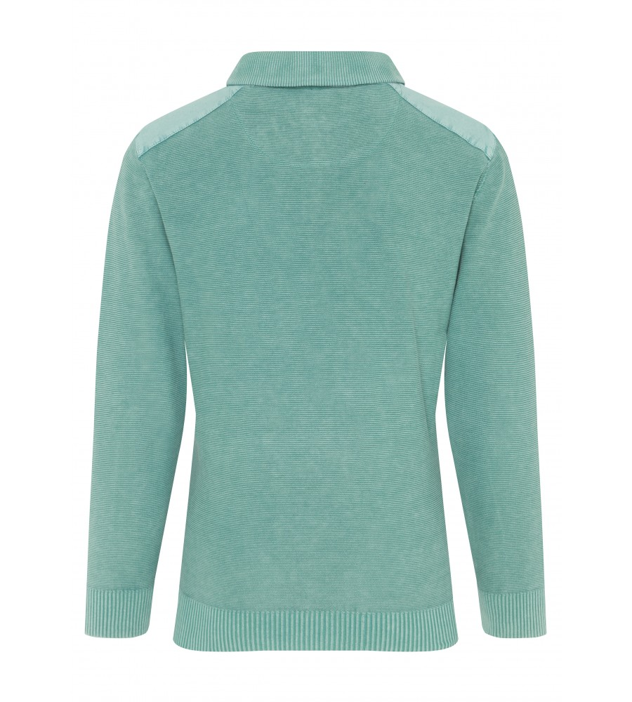 Baumwoll-Pullover in Washed-Optik 26056-504 back