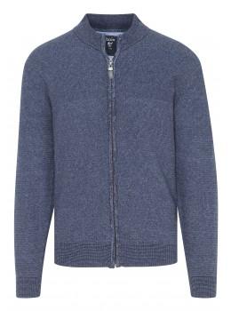 Stehkragen-Jacke Jeans Look