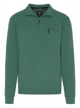 Troyer-Sweatshirt Mouline