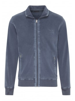Sweatjacke Washed-Optik