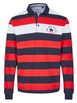 Rugbyshirt mit Polokragen