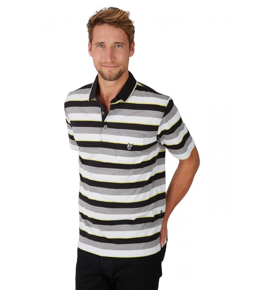 Poloshirt mit garngefärbtem Streifenverlauf 26618-100 front