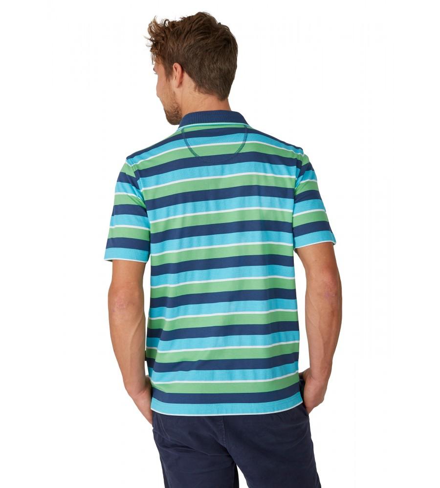 Poloshirt mit garngefärbtem Streifenverlauf 26618-638 back
