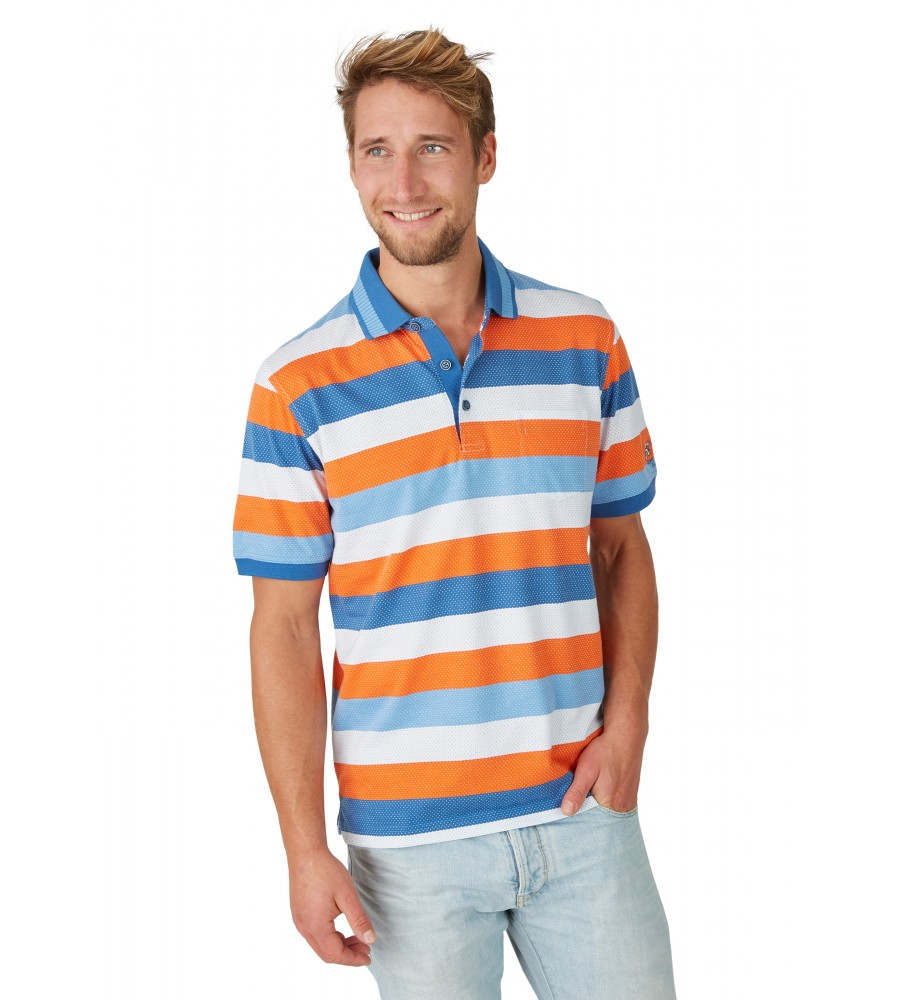 Jacquard-Poloshirt mit Blockringel 26619-600 front