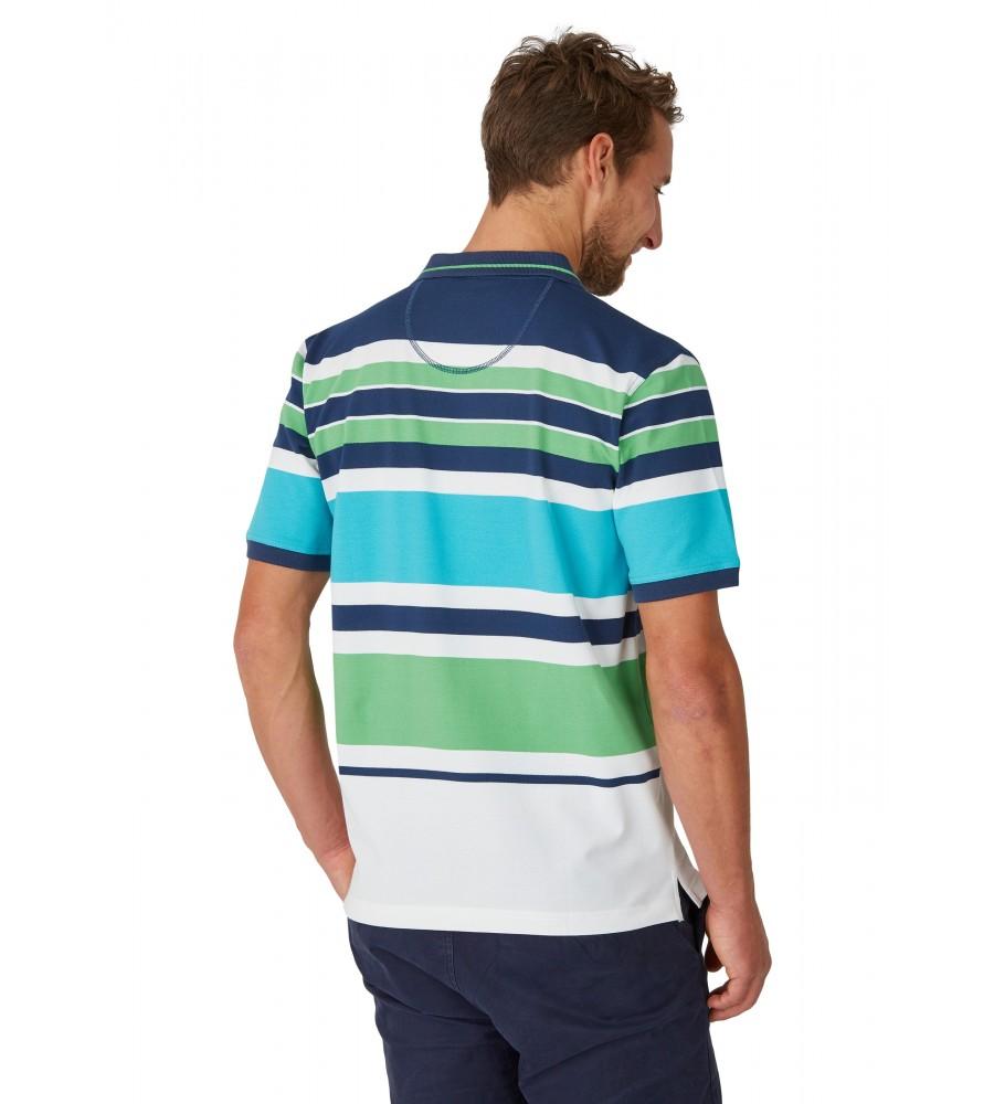 Pikee-Poloshirt mit Ringelverlauf 26624-638 back