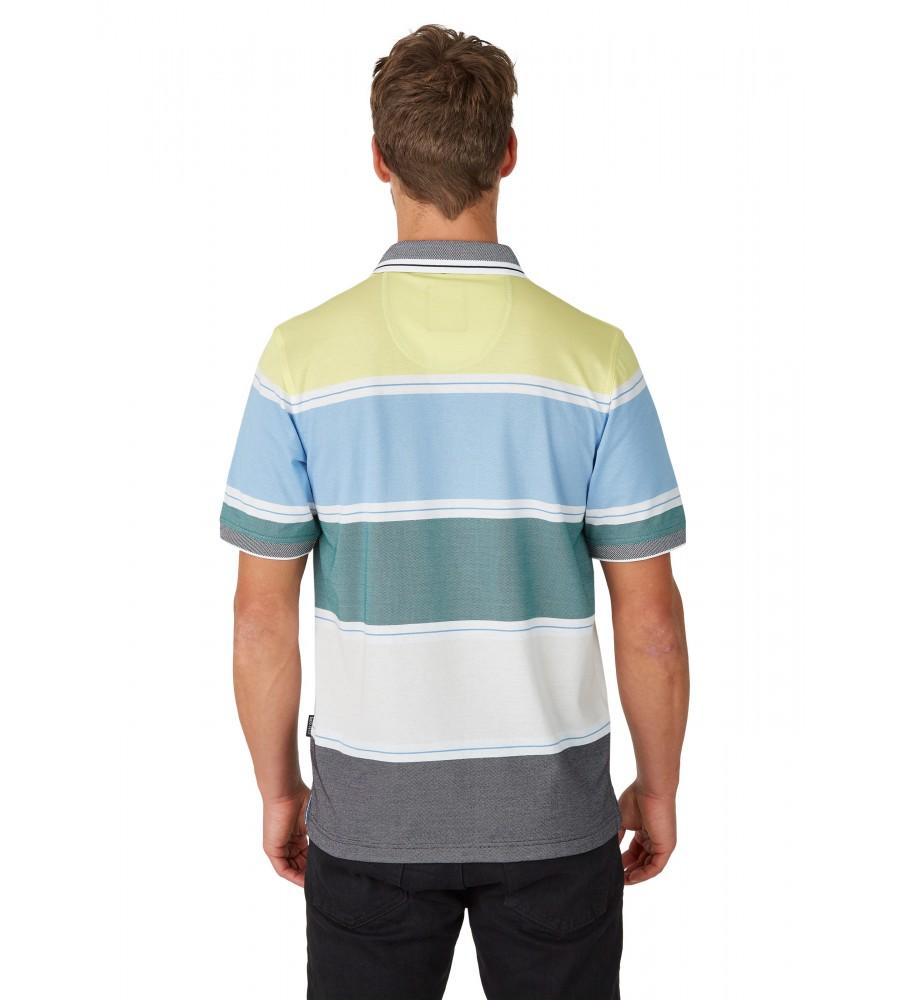 Pikee-Poloshirt mit stimmigen Blockstreifen 26628-526 back