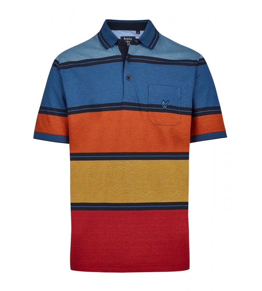 Pikee-Poloshirt mit stimmigen Blockstreifen 26628-609 front
