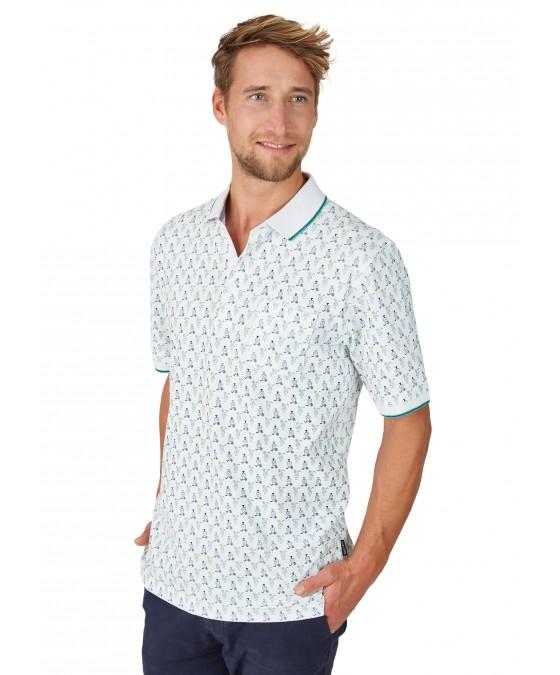 Pikee-Poloshirt mit Alloverdruck 26630-200 front