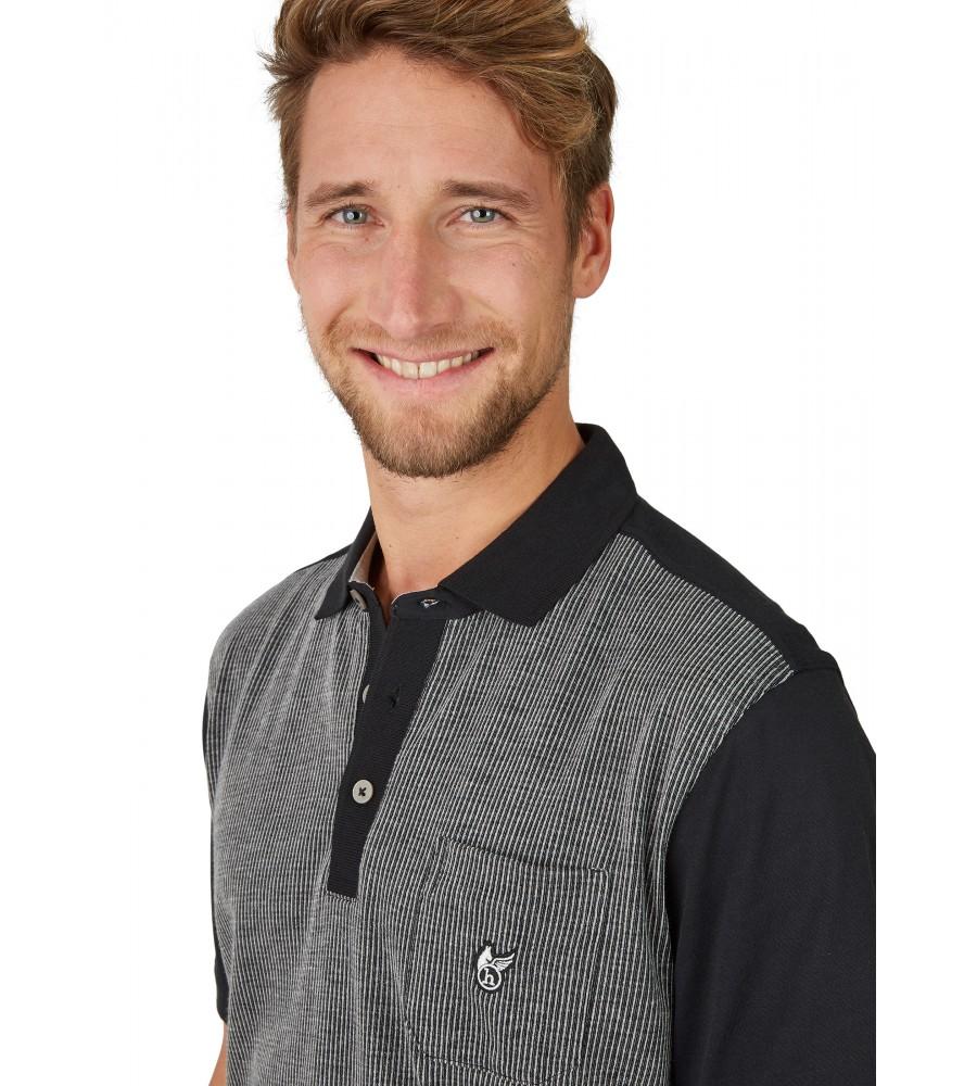 Poloshirt mit einem Vorderteil in Längsoptik 26633-100 detail1