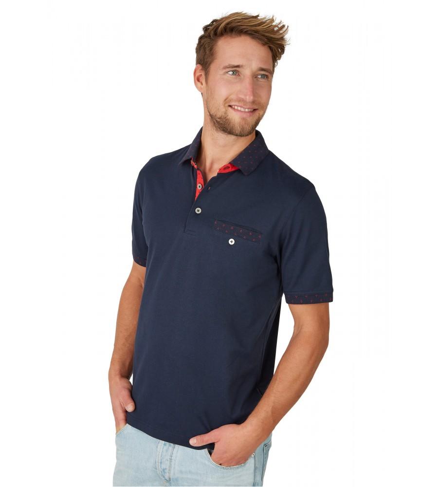 Poloshirt mit dezenten Details 26634-609 front