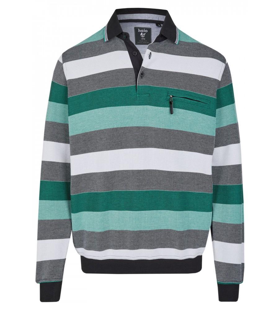 Sweatshirt mit Polokragen 26651-100 front