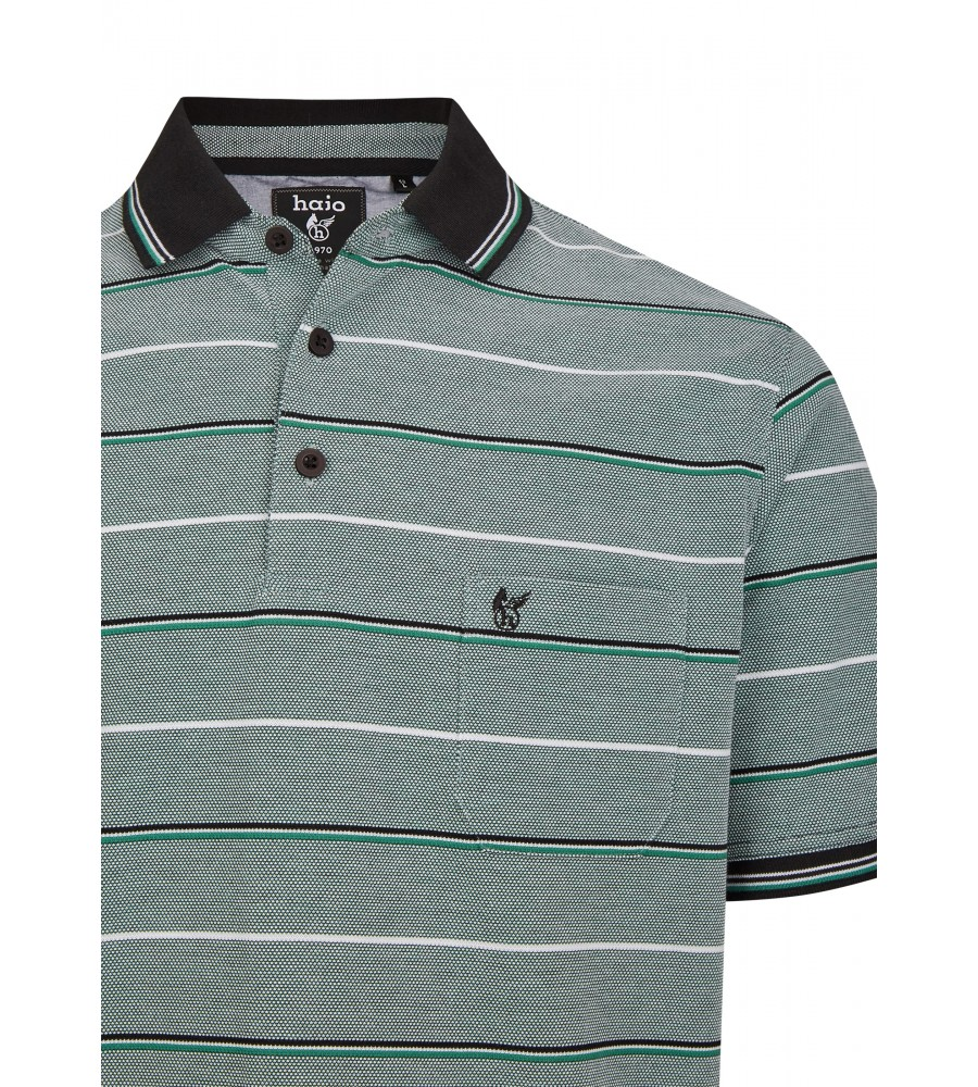 Pikee-Poloshirt in toller Zweitonoptik 26672-526 detail1