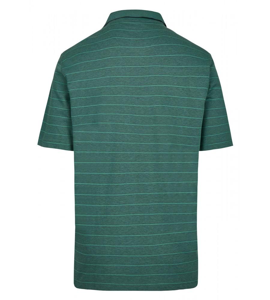 Softknit-Poloshirt mit garngefärbten Querringeln 26679-526 back