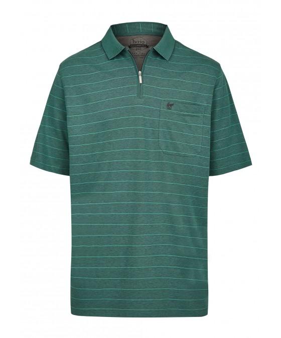 Softknit-Poloshirt mit garngefärbten Querringeln 26679-526 front
