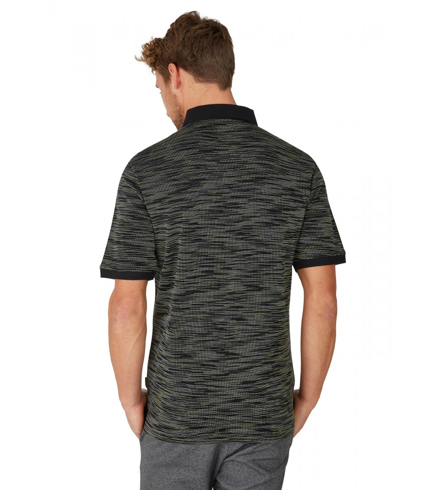 Poloshirt mit edler Oberflächenoptik 26682-100 back