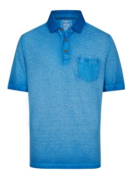 Washer-Poloshirt mit Querstruktur