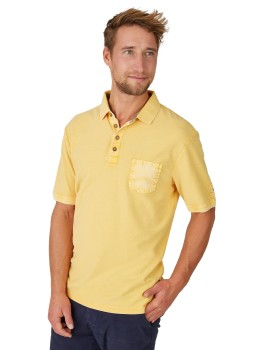 Washer-Poloshirt mit strukturierter Oberfläche