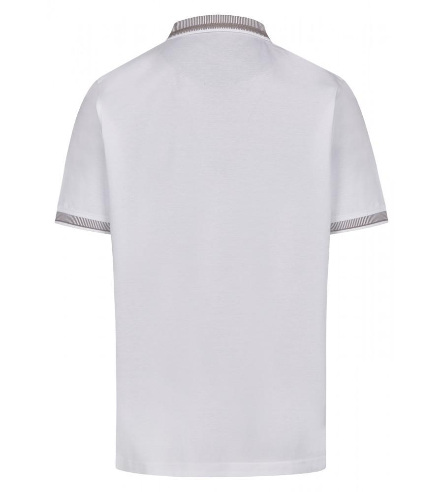 Pikee-Poloshirt mit aufwändig gestricktem Kragen 26696-200 back