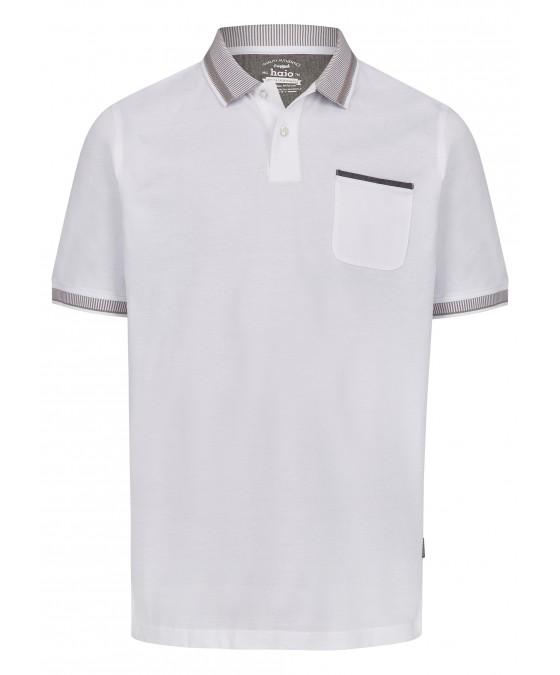 Pikee-Poloshirt mit aufwändig gestricktem Kragen 26696-200 front