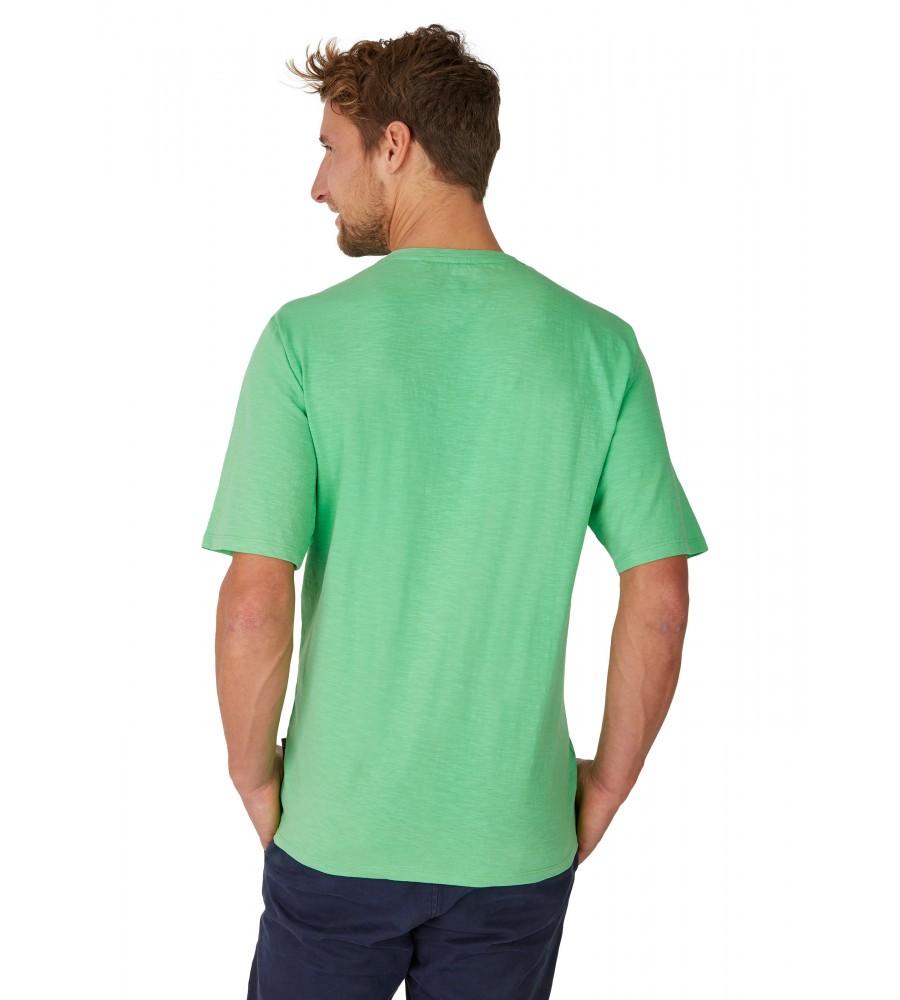 Rundhals T-Shirt mit Reliefdruck 26702-521 back
