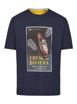 Rundhals T-Shirt mit Frontdruck