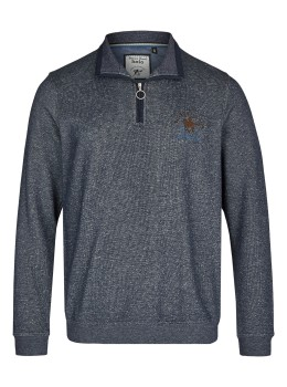 Sweatshirt in Tweed-Melange
