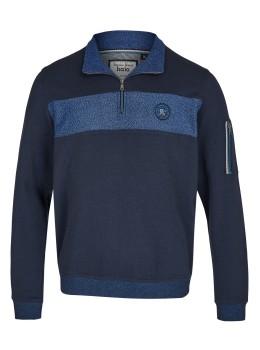 Sweatshirt mit Flächenteilereinsatz