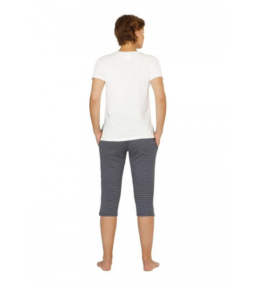 Capri-Schlafanzug mit Frontdruck 45074-200 back