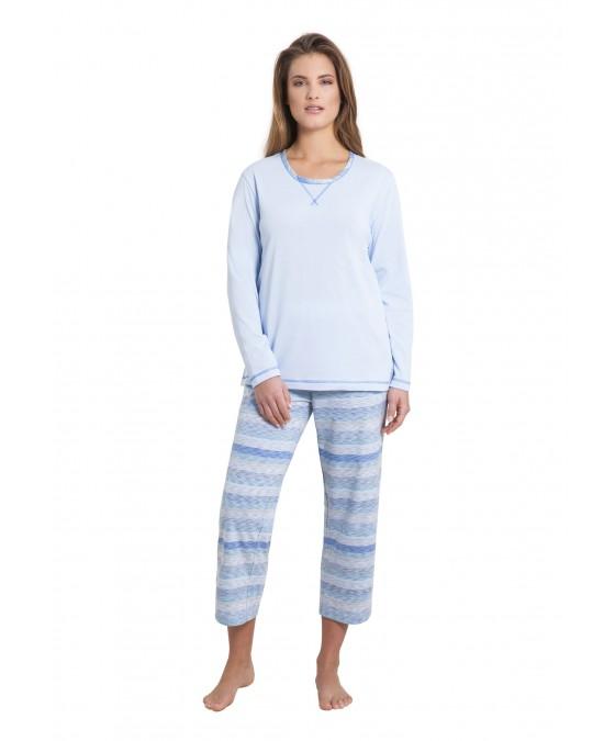 7/8 Schlafanzug Klima-Komfort 45118-621 front