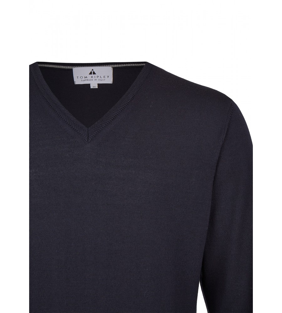 Pullover mit V-Ausschnitt T1005-672 detail1