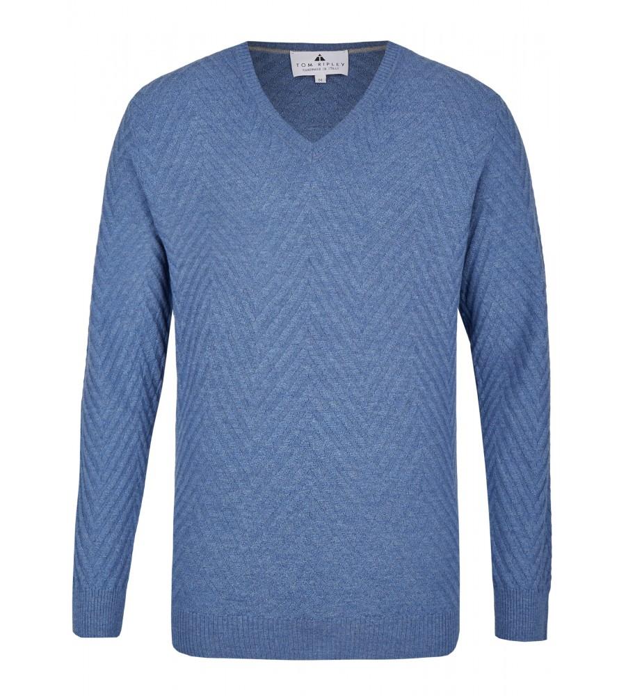 Pullover mit V-Ausschnitt T1008-654 front