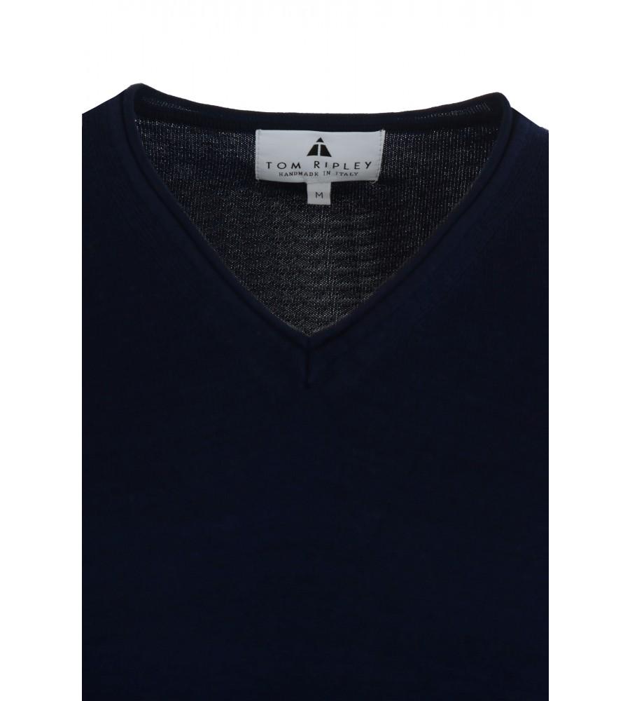 Hochwertiger Pullover mit V-Ausschnitt T1023-672 detail1