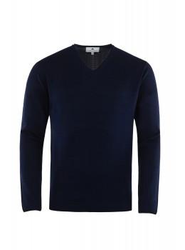 Hochwertiger Pullover mit V-Ausschnitt