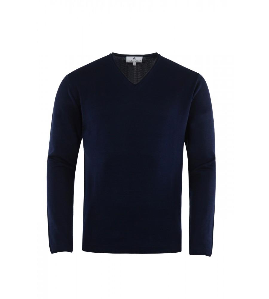 Hochwertiger Pullover mit V-Ausschnitt T1023-672 front